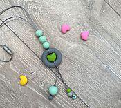 Работы для детей, ручной работы. Ярмарка Мастеров - ручная работа Подвеска из пищевого силикона с сердечком. Handmade.