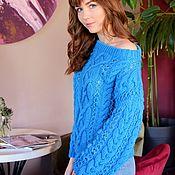 Одежда handmade. Livemaster - original item Sweater mix of turquoise color. Handmade.