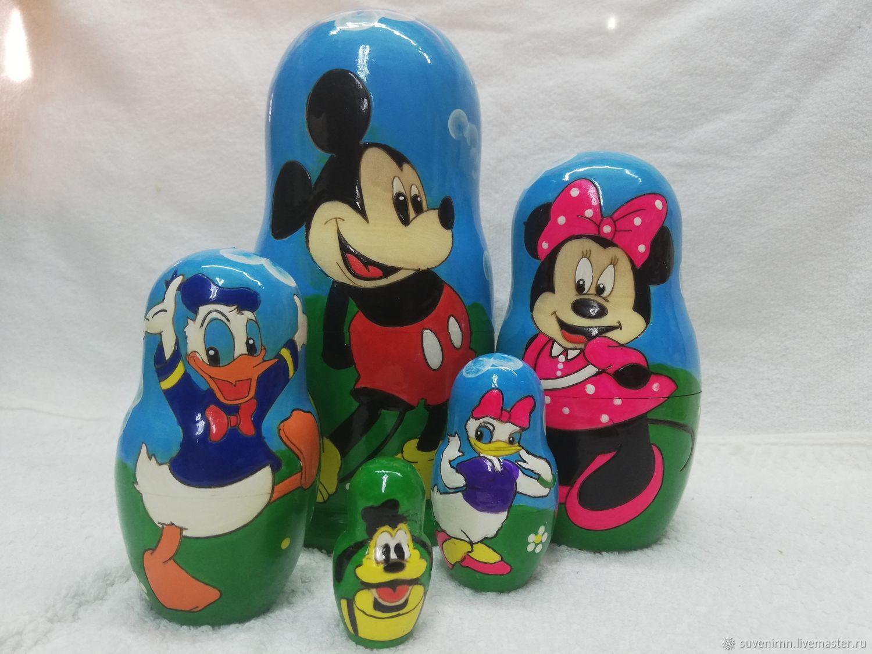 Матрешка игрушки мультяшки, Матрешки, Вознесенское,  Фото №1