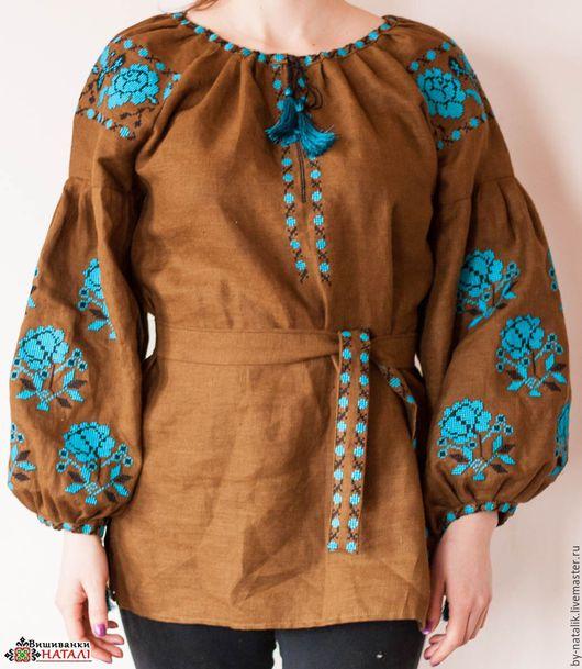 Блузки ручной работы. Ярмарка Мастеров - ручная работа. Купить Вишиванка-бохо. Handmade. Комбинированный, Вишиванка, блуза женская