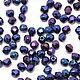 Для украшений ручной работы. Ярмарка Мастеров - ручная работа. Купить 50шт 3мм Чешские граненые бусины Синий ирис Fire polished beads. Handmade.