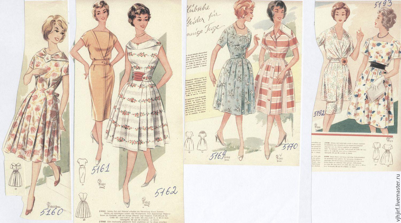 фасоны платьев из немецких журналов мод работники