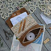 Материалы для творчества ручной работы. Ярмарка Мастеров - ручная работа Мини-органайзер  для рукоделия. Handmade.