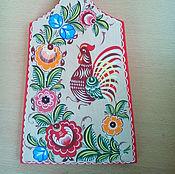 Для дома и интерьера ручной работы. Ярмарка Мастеров - ручная работа Доска деревянная Городец Петушок. Handmade.