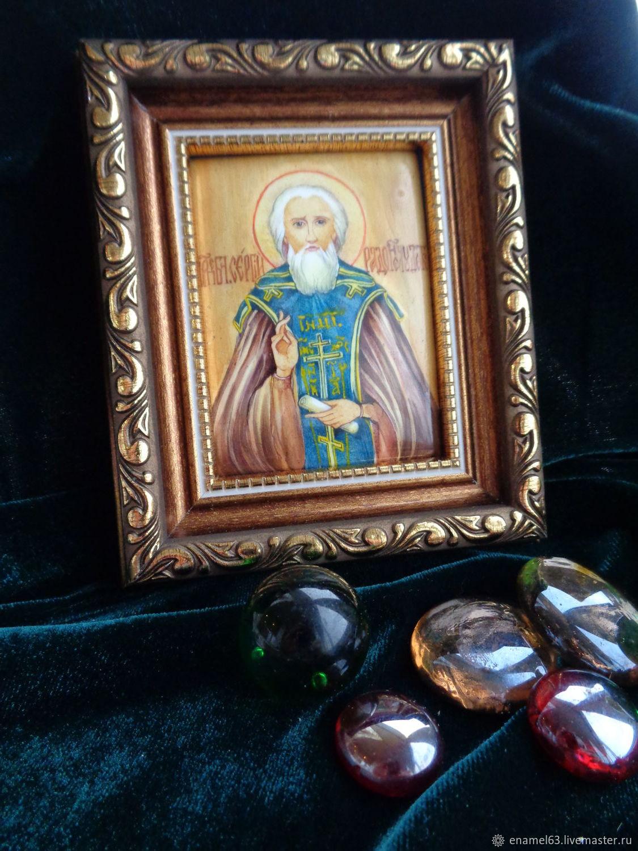 Painting on enamel'Sergius of Radonezh', Figurines in Russian style, Tolyatti,  Фото №1