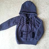 Одежда ручной работы. Ярмарка Мастеров - ручная работа Кофточка с капюшоном на мальчика. Handmade.
