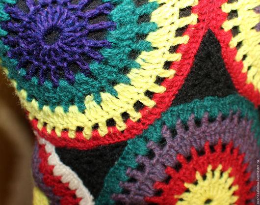 Кофты и свитера ручной работы. Ярмарка Мастеров - ручная работа. Купить Кофта вязаная хиппи-винтаж. Handmade. Комбинированный
