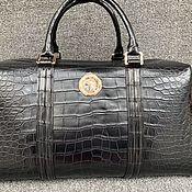 handmade. Livemaster - original item Men`s travel / sports bag made of crocodile belly, premium class.. Handmade.