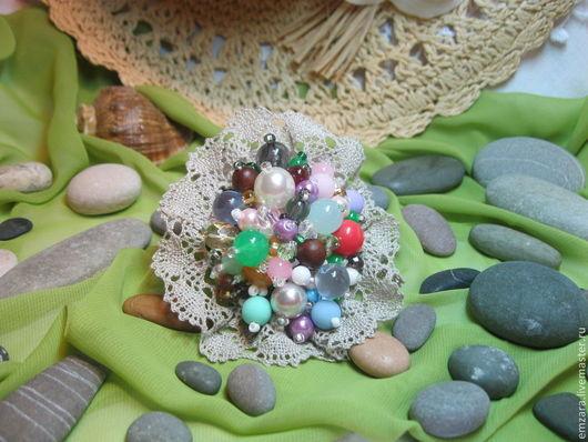 """Броши ручной работы. Ярмарка Мастеров - ручная работа. Купить Брошь """" Весенний сад """". Handmade. Разноцветный"""