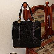 Сумки и аксессуары ручной работы. Ярмарка Мастеров - ручная работа сумка черная замша. Handmade.
