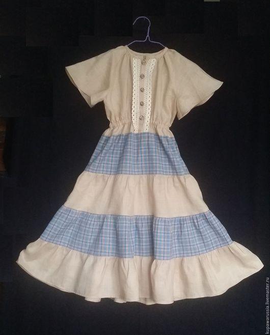 """Одежда для девочек, ручной работы. Ярмарка Мастеров - ручная работа. Купить Детское платье """"Колокольчик"""". Handmade. Комбинированный, народный стиль"""