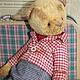 Мишки Тедди ручной работы. Ярмарка Мастеров - ручная работа. Купить Милош. Handmade. Разноцветный, медведь тедди, подарок, опилки