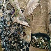 """Кардиганы ручной работы. Ярмарка Мастеров - ручная работа Пальто лёгкое- кардиган """" Цветы в траве"""". Handmade."""