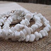 Украшения handmade. Livemaster - original item Bracelet from white agate