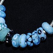 Материалы для творчества ручной работы. Ярмарка Мастеров - ручная работа Бусины в стиле пандора Голубые мечты. Handmade.