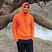 """Свитеры ручной работы. Ярмарка Мастеров - ручная работа Мужской свитер """"Ди Каприо"""" Orange. Handmade."""