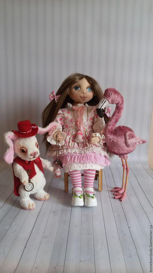 Коллекционные куклы ручной работы. Ярмарка Мастеров - ручная работа. Купить Алиса. Handmade. Розовый, шарнирная кукла, фламинго