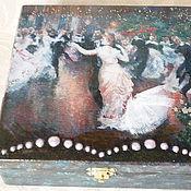 """Для дома и интерьера ручной работы. Ярмарка Мастеров - ручная работа Шкатулка """"В вихре вальса"""". Handmade."""