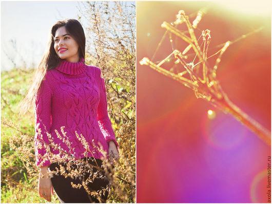 """Кофты и свитера ручной работы. Ярмарка Мастеров - ручная работа. Купить Пуловер """"Лесная нимфа-4"""". Handmade. Розовый"""