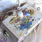 """Подарки к праздникам ручной работы. Ярмарка Мастеров - ручная работа Шкатулка - короб для хранения """" Весеннее настроение """" подарок садоводу. Handmade."""