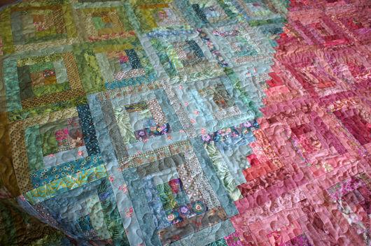 """Текстиль, ковры ручной работы. Ярмарка Мастеров - ручная работа. Купить Лоскутное покрывало """"Нефритовая лоза"""". Handmade. Тёмно-бирюзовый"""