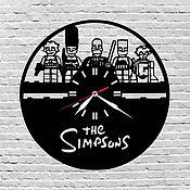 Для дома и интерьера ручной работы. Ярмарка Мастеров - ручная работа Часы настенные из акрилового стекла Simpsons. Handmade.