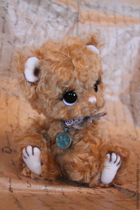 Мишки Тедди ручной работы. Ярмарка Мастеров - ручная работа. Купить Митька. Handmade. Коричневый, тедди мишка, подарок, холофайбер