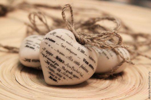 """Подарки для влюбленных ручной работы. Ярмарка Мастеров - ручная работа. Купить Сердце """"Я люблю тебя"""". Handmade. Белый"""