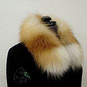 Аксессуары handmade. Livemaster - original item Fur detachable collar boa fur red Fox.. Handmade.