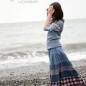 Одежда ручной работы. Ярмарка Мастеров - ручная работа Джинсовая юбка Алые паруса. Handmade.