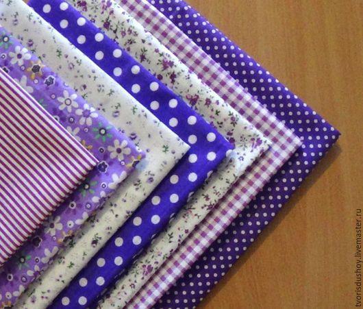 Другие виды рукоделия ручной работы. Ярмарка Мастеров - ручная работа. Купить Набор тканей из хлопка (8). Handmade. Ткань