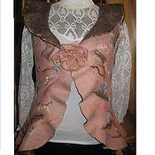"""Одежда ручной работы. Ярмарка Мастеров - ручная работа Жилет двухсторонний """"Персиковый цвет"""" с воланом. Handmade."""