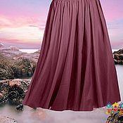 Одежда ручной работы. Ярмарка Мастеров - ручная работа Пепельная роза шифоновая юбка. Handmade.