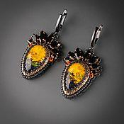 Украшения handmade. Livemaster - original item Yellow Black. Toucan Earrings 2. Handmade.