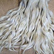 handmade. Livemaster - original item Hair for dolls: Angora curls 15-20 cm. Handmade.