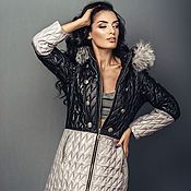 Одежда handmade. Livemaster - original item Quilted jacket for women zip hooded. Handmade.