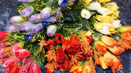 Материалы для флористики ручной работы. Ярмарка Мастеров - ручная работа. Купить Крокусы с мелкоцветом. Handmade. Комбинированный, весенние цветы