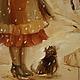 Люди, ручной работы. Наденька (первое свидание). Оксана Чурочкина 'Добрые картины'. Ярмарка Мастеров. Картина в подарок, девушка