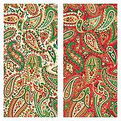 Материалы для творчества ручной работы. Ярмарка Мастеров - ручная работа Ткань Traditional Metallic Christmas Paisley Makower UK. Handmade.