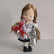 Куклы и игрушки handmade. Livemaster - original item First-grader. Handmade.