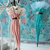 """Украшения ручной работы. Ярмарка Мастеров - ручная работа Брошь-зонтик """"Candy"""". Броши из кожи, зонтик из кожи, цветы из кожи. Handmade."""