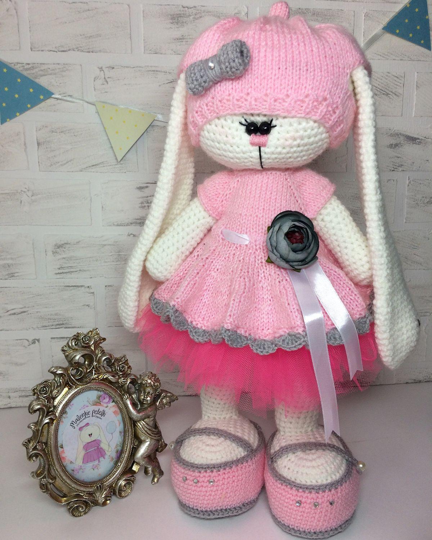 платье на игрушку вязанное