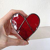 Витражи ручной работы. Ярмарка Мастеров - ручная работа Сердце. Витражная подвеска. Handmade.