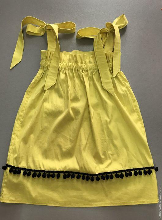 Одежда для девочек, ручной работы. Ярмарка Мастеров - ручная работа. Купить Платье для маленькой модницы!. Handmade. Однотонный, желтое платье