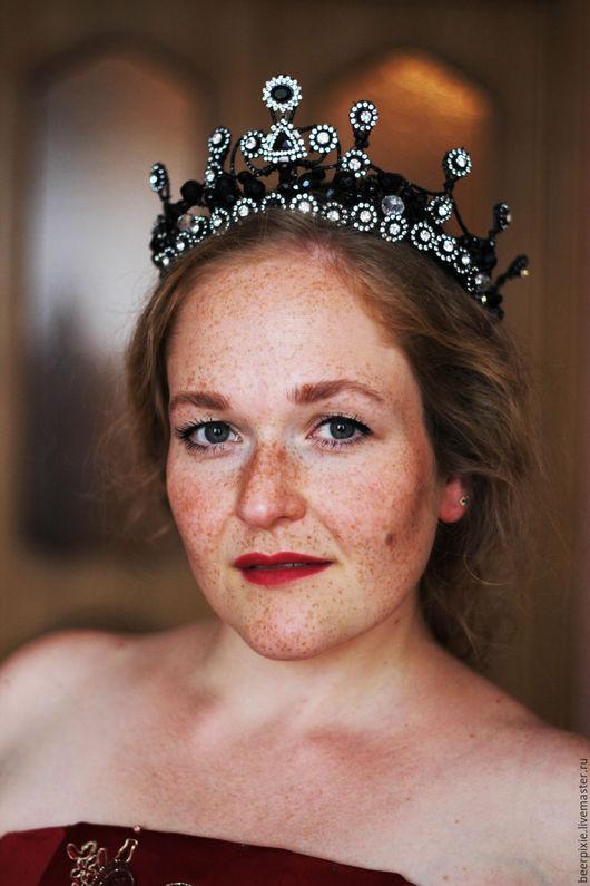 """Диадемы, обручи ручной работы. Ярмарка Мастеров - ручная работа. Купить Корона """"Великолепный век"""". Handmade. Черный, корона из проволоки"""
