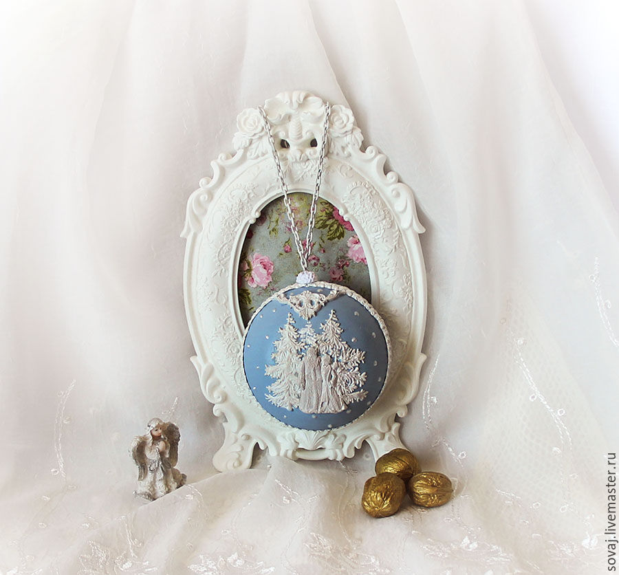 Christmas toy locket ' Remembering the Wedgwood! ', Gifts, , Фото №1