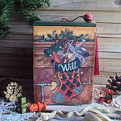 Дед Мороз и Снегурочка ручной работы. Ярмарка Мастеров - ручная работа Новогодний короб с игрушками от Деда Мороза. Handmade.