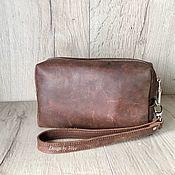 Сувениры и подарки handmade. Livemaster - original item Cosmetic bag genuine leather. Handmade.