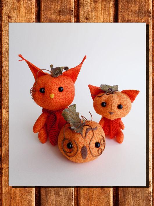 Подарки на Хэллоуин ручной работы. Ярмарка Мастеров - ручная работа. Купить Тыковки - зверята. Handmade. Рыжий, совенок, тыковка, осень