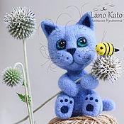 Куклы и игрушки ручной работы. Ярмарка Мастеров - ручная работа Котёнок Блуберри / Игрушка из шерсти. Handmade.
